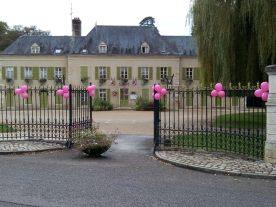 Mairie de Chatenoy-en-Bresse aux couleurs d'Octobre Rose