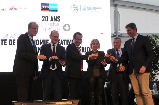Les élus lancent Lancement officiel de la Cité de l'économie créative et de l'ingénierie numérique