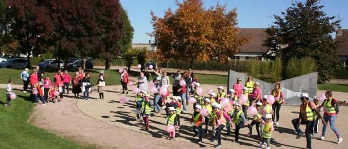 Ballade à Châtenoy le Royal pour la lutte contre le cancer du sein
