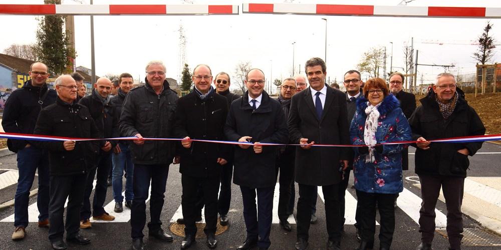 Inauguration du parking de l'abattoir au quartier Saont Cosme à Chalon sur Saône