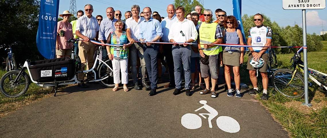 Inauguration de la voie cyclable Lux-Chalon sur saône