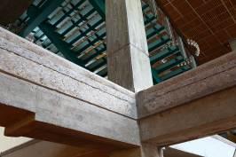 vue interieur de l'espace des arts sur la structure en beton, piece maitresse du batiment