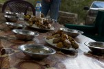 Lunch in Qandil. Pan-fried chicken on rice with chicken broth and green peppers. Photo by Karzan Mela
