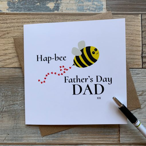 Hap-bee Fathers Day Card
