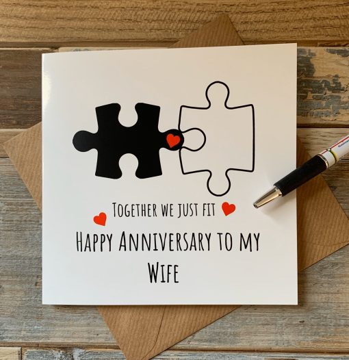 Together We Just Fit Wife Anniversary Card