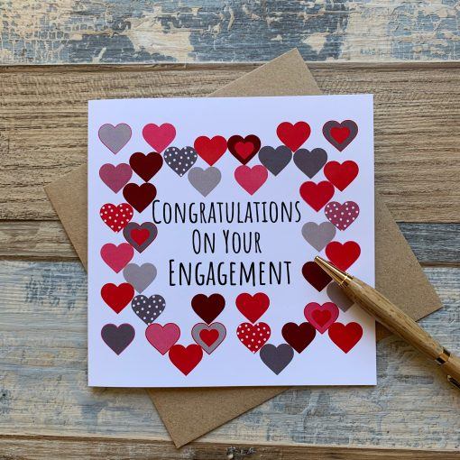 Hearts Engagement Card