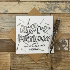 DIY Tools Design Birthday Card