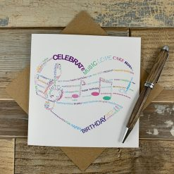 Love Music Wordle Design Birthday Card