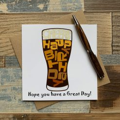 Beer Pint Glass Birthday Card