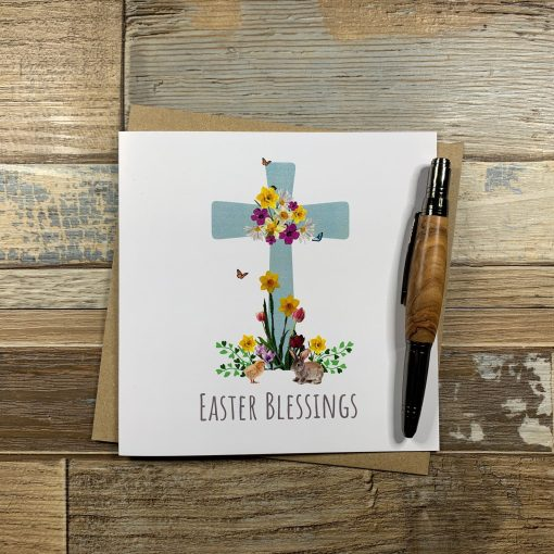 Flowers on The Cross - Easter Card