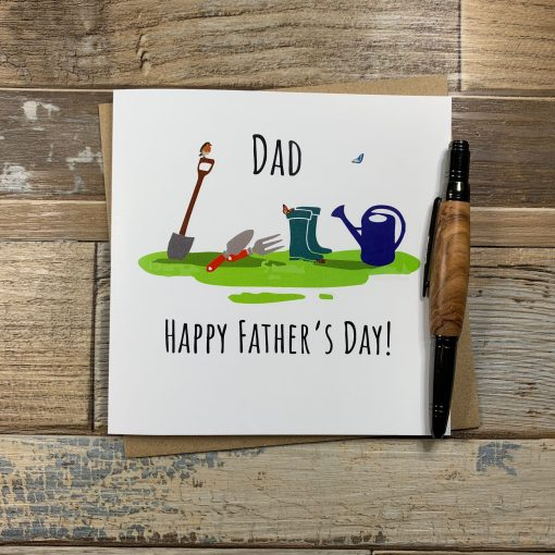 Gardening theme Fathers Day Card