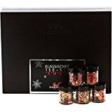 Hallingers TeeMix Klassisches Tee-Set - xMas Set, 12 x Miniglas in Design Karton, 1er Pack (1 x 100 g)