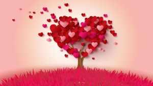 drzewo serce z serduszkami
