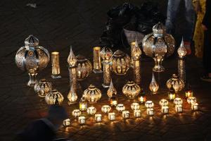 Marrakesh, Lampenverkäufer