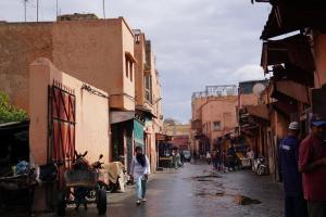 Marrakesh, Medina nach dem Regen