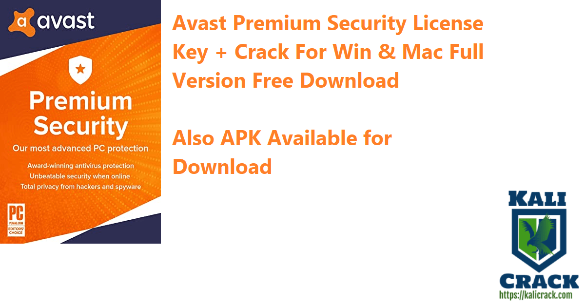Avast Premium Security 20 10 2442 License Key Crack For Win Mac Download