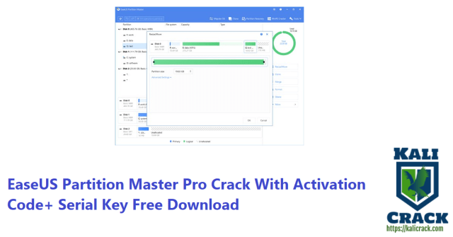 EaseUS Partition Master Pro Crack With Activation Code+ Serial Key Free Download