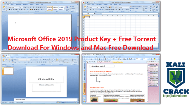 Microsoft Office 2019 Product Key + Free Torrent Download For Windows and Mac Free Download