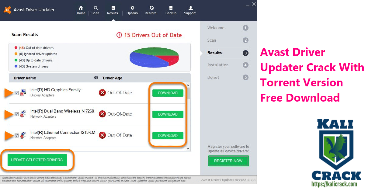 Avast Driver Updater Crack With Torrent Version Free Download