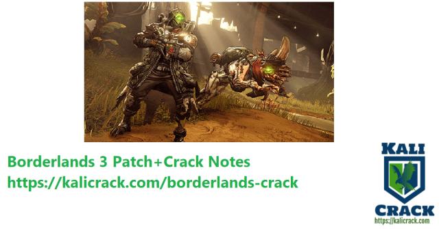 Borderlands 3 Patch+Crack Notes