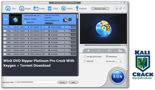 WinX DVD Ripper Platinum Pro Crack With Keygen + Torrent Download