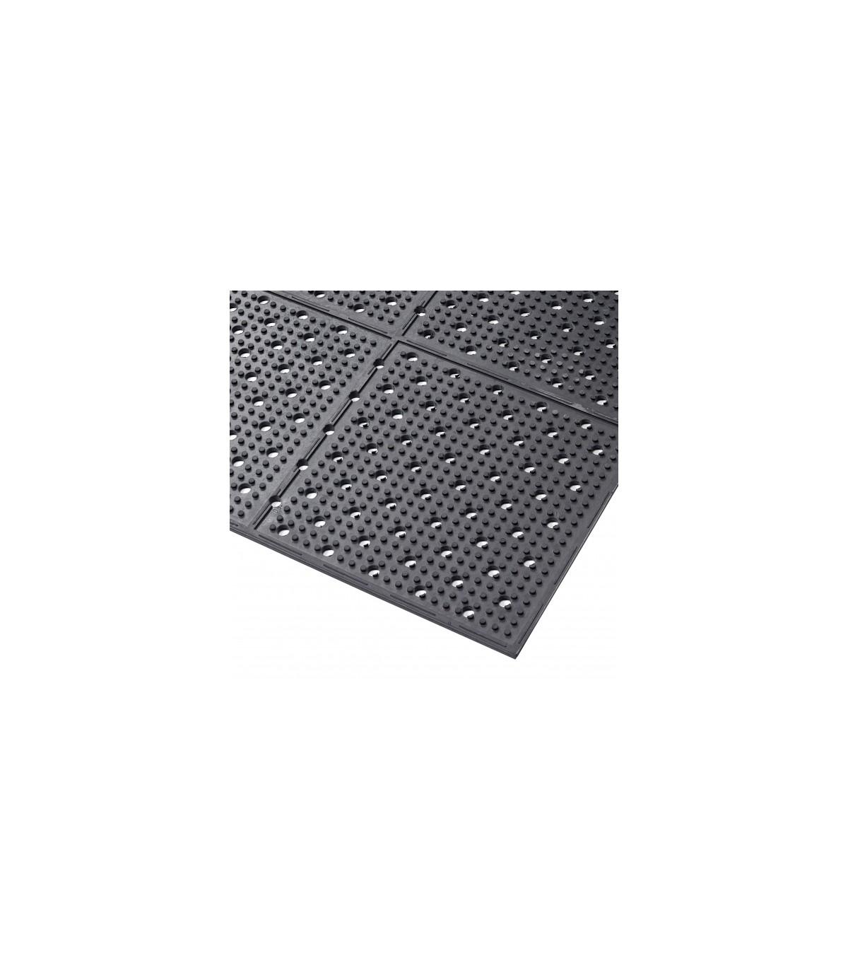 tapis anti derapant perfore reversible en caoutchouc