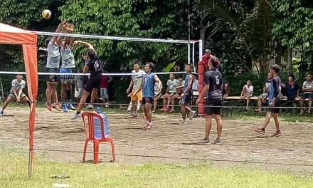 Pembangunan Lapangan Selesai, Tim Voli Adakan Event Tingkat Kecamatan