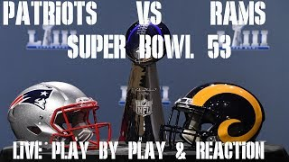 SUPER BOWL 53: PATRIOTS VS RAMS LIVE PLAY BY PLAY & REACTION − アフィリエイト動画まとめ