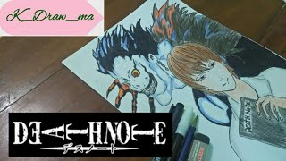 SIMPLE DRAWING LIGHT YAGAMI & RYUK FROM DEATH NOTE VERSI K_DRAW_MA − アフィリエイト動画まとめ