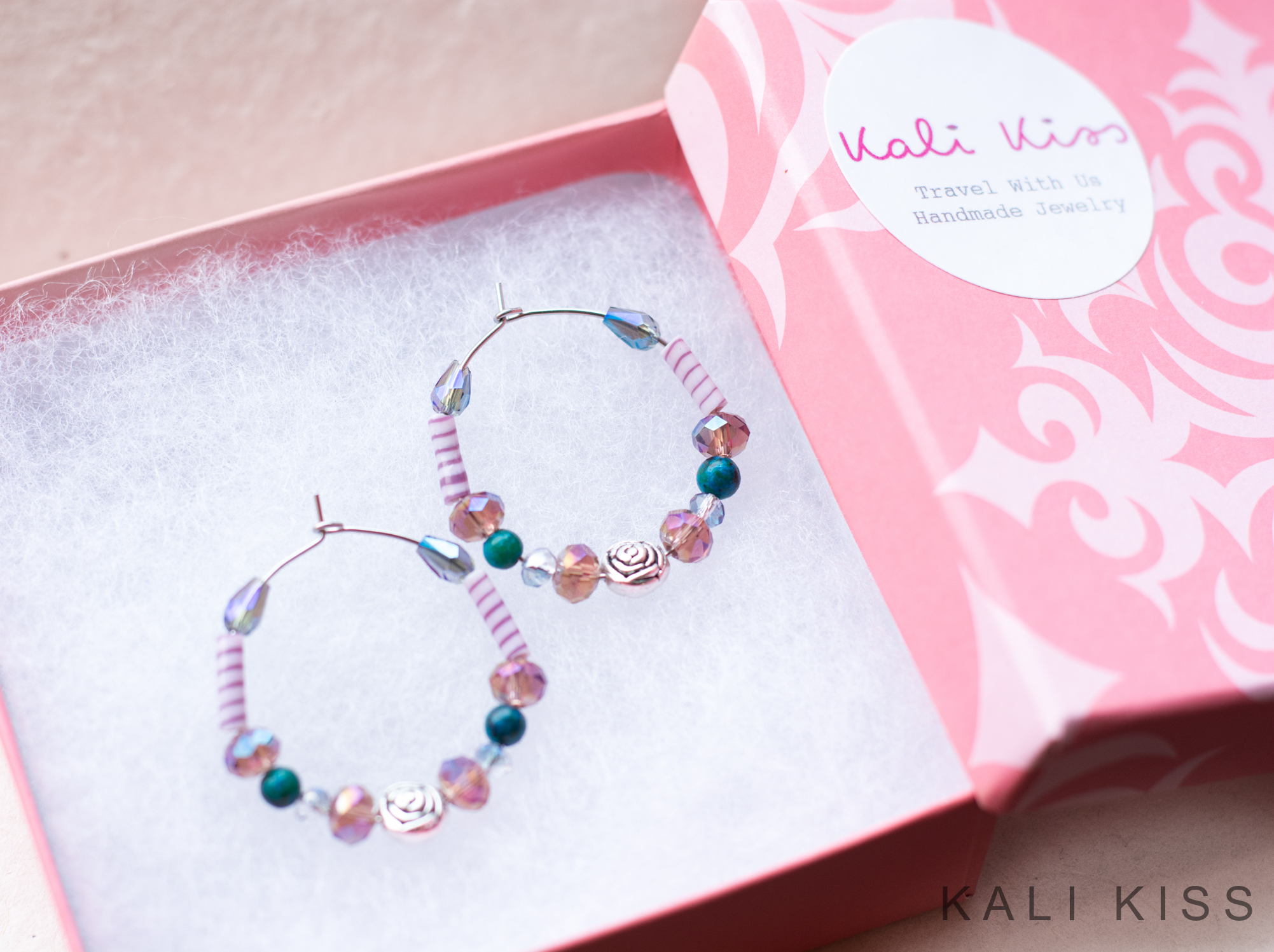 Beautiful Earrings with Rich Colors