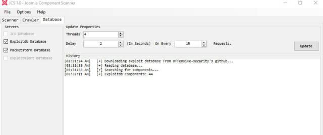 Joomla Component Scanner