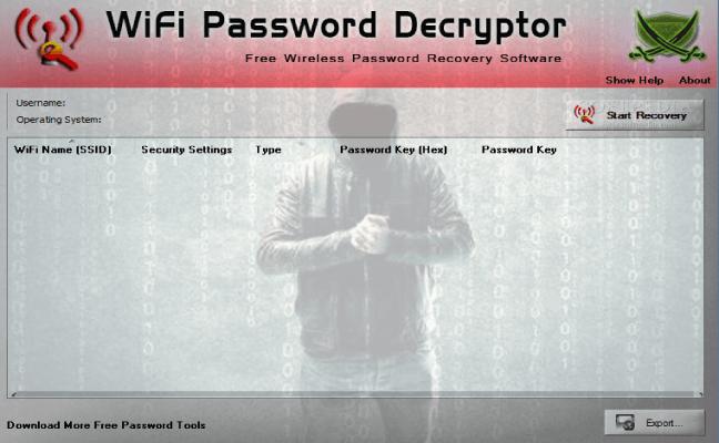 WiFi Password Decryptor Software To Recover Wireless Password
