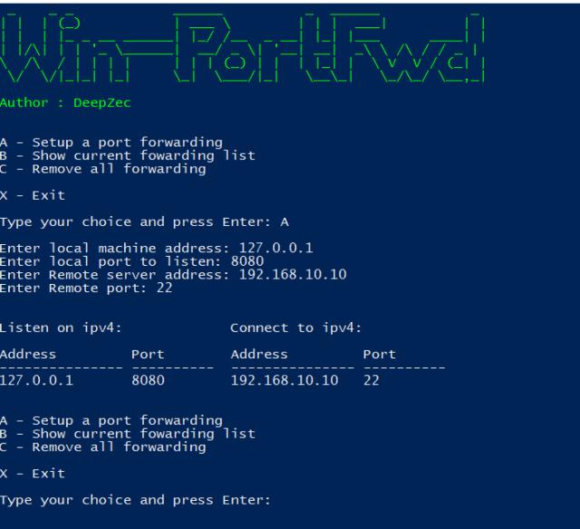 Win-PortFwd : Powershell Script To Setup Windows Port Forwarding
