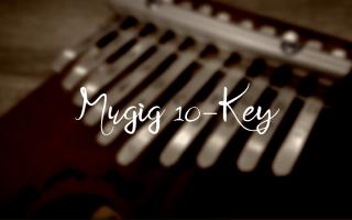 "title image with text ""Mugig 10-key"""