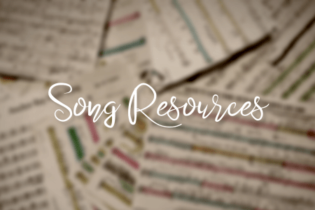 "title image with text ""song resources"""