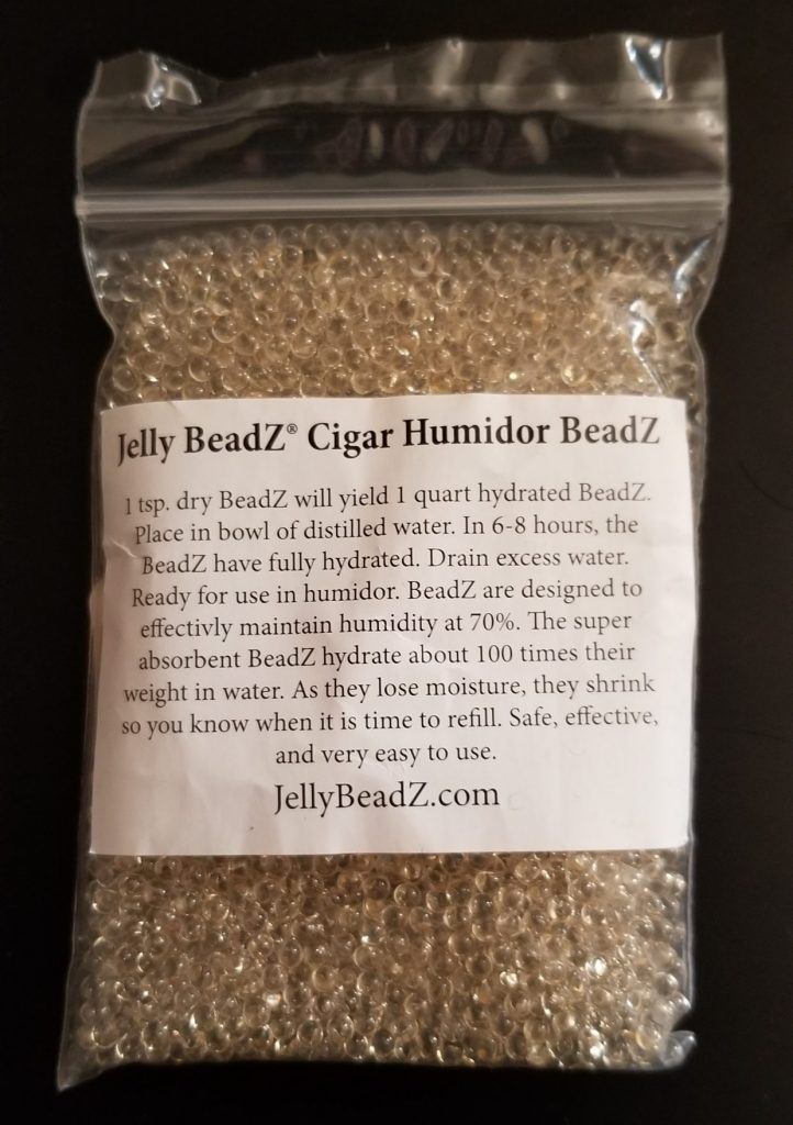 picture of cigar humidor bead packet