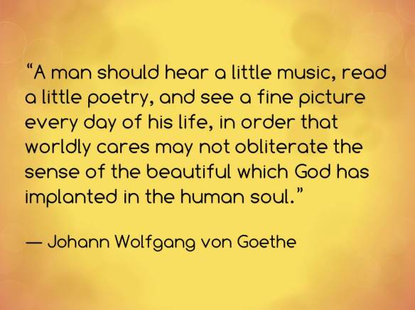 A man should hear a little music