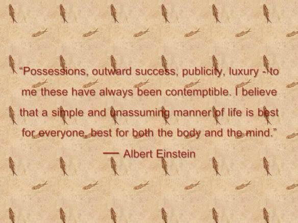 Possessions, outward success, publicity,