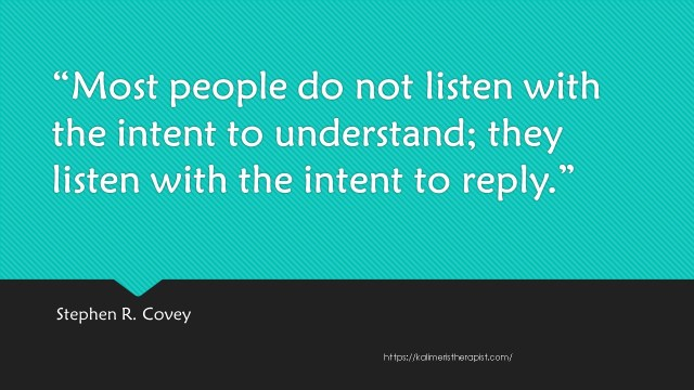 Most people do not listen with the