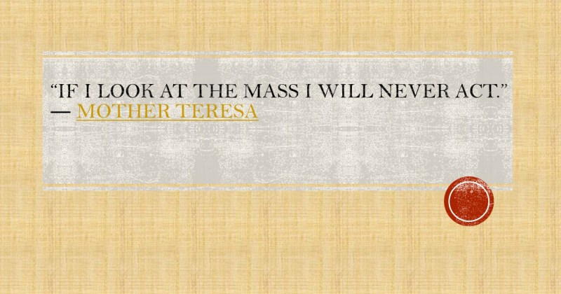 If i look at the mass i will never act