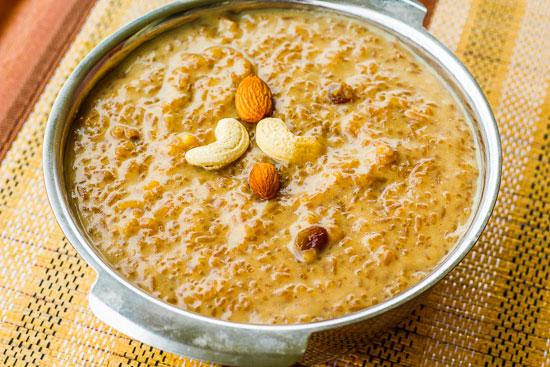 Bakheer Jaggery rice pudding