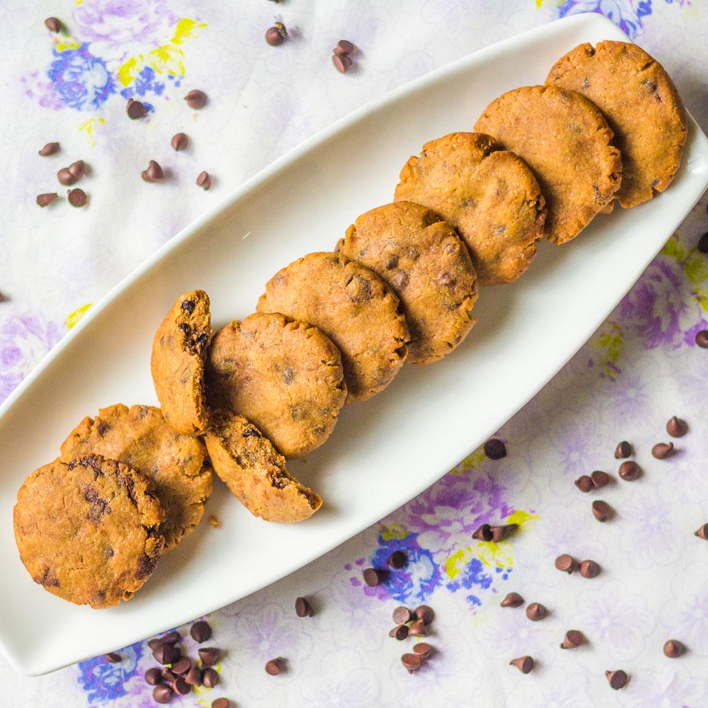 Whole Wheat chocochip cookies