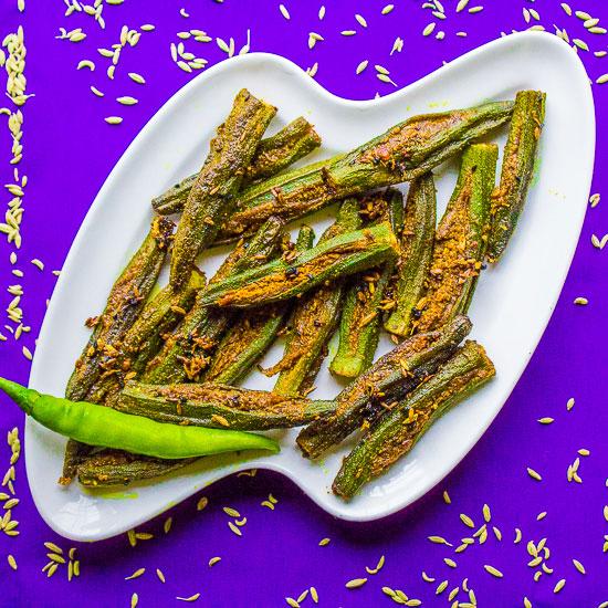 Crispy kurkuri bhindi