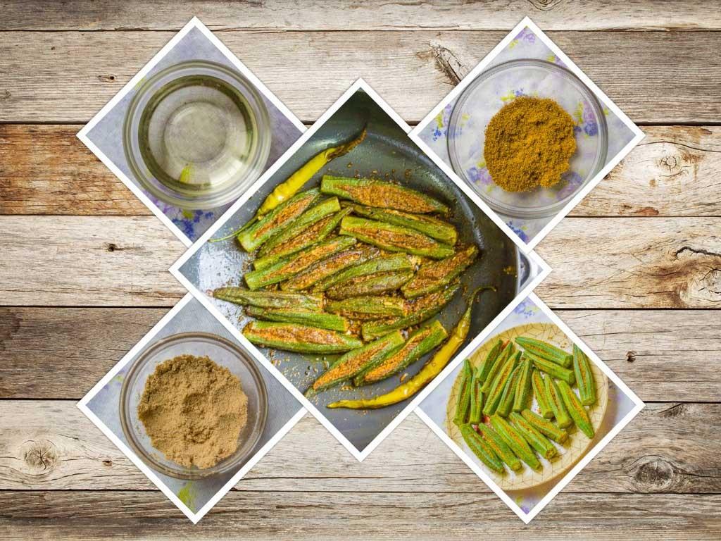Rajasthani Bhindi Ingredients