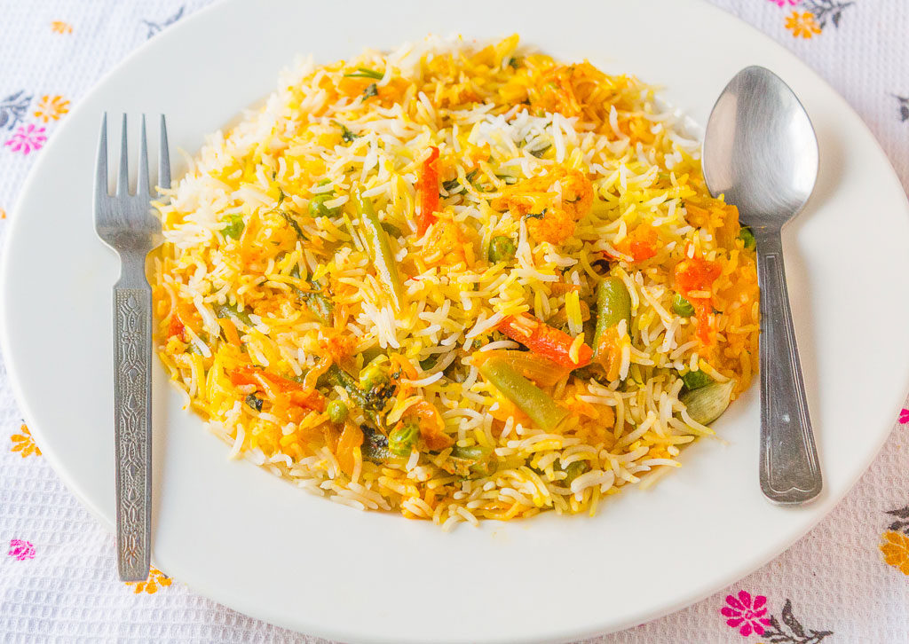 Vegetable Biryani-Subz Biryani