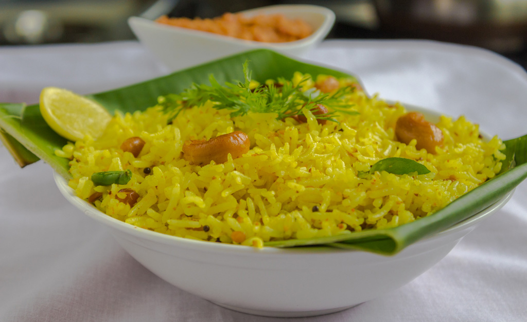 Lemon rice, easy lemon rice