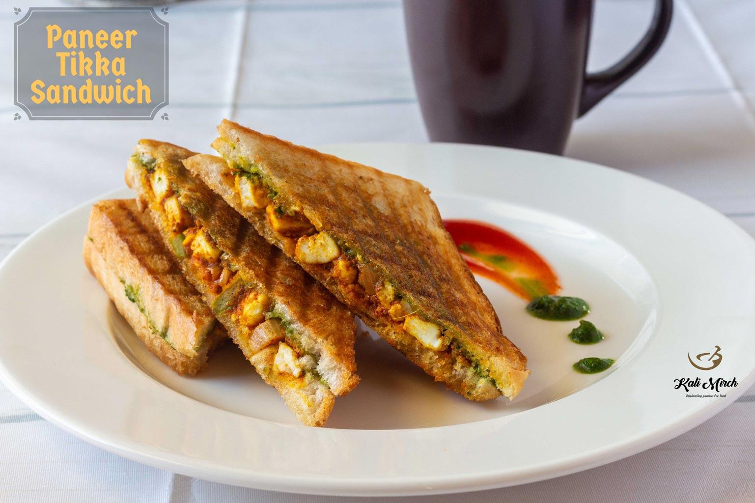 Paneer Tikka Grilled Sandwich