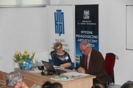 Sesja IV - dzień drugi. Prowadzi dr Iwona Barańska, referat wygłasza prof. Jan Salm.