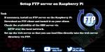 Setup FTP server on Raspberry Pi