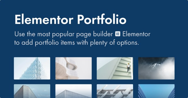 Use Elementor to add portfolio items to your site